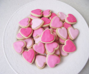 pink, food, and Cookies image