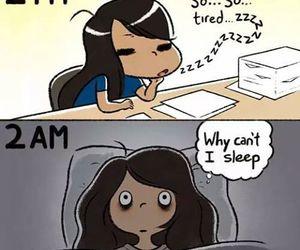 sleep, funny, and comic image