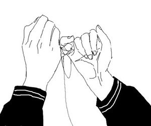 anime, hands, and promise image