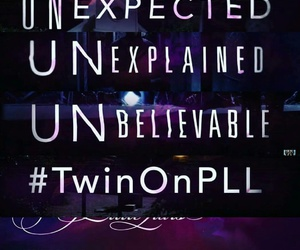 Finale, twin, and pretty little liars image