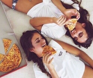 beautiful, pizza, and friendship image