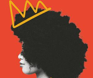 Afro, face, and black woman image