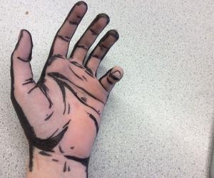 art, hand, and grunge image