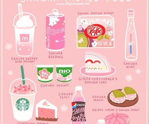sakura, food, and japan image
