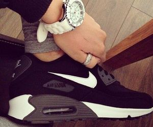 air max, girl, and shoes image