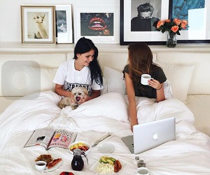girl, morning, and best friends image