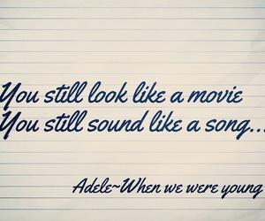 25, Adele, and Lyrics image