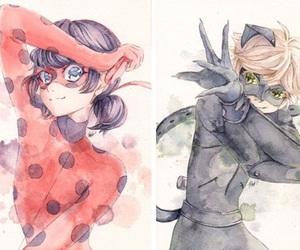 Chat Noir, ladybug, and paris image
