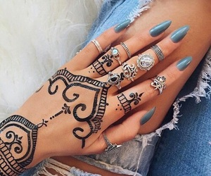 nails, henna, and tattoo image
