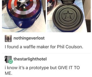 captain america, Marvel, and waffles image