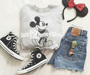 outfit, mickey, and converse image