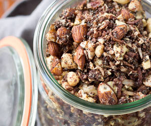 breakfast, coconut, and nuts image
