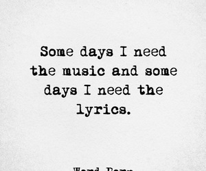 Lyrics, quote, and music image