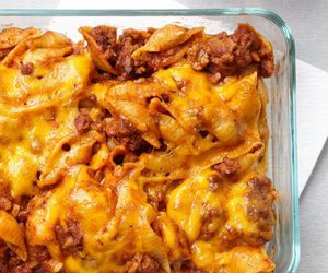 beef, pasta, and cheese image