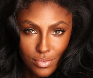 perfect face and black girl make up image