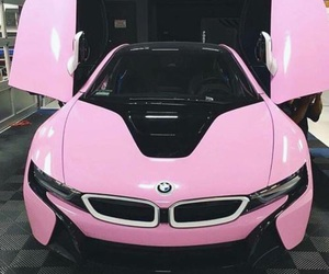 car, pink, and bmw image