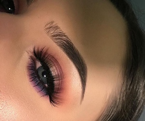 beauty, eyelashes, and eyebrows image