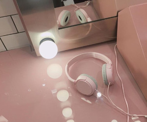 headphones and pink image