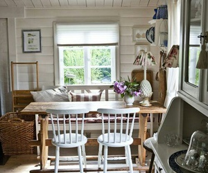 home decor, white chairs, and kitchen table image