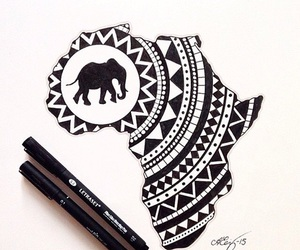 elephant, africa, and artistic image