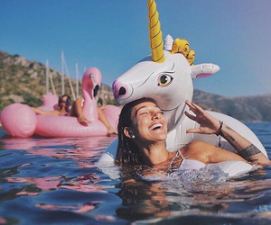 summer, unicorn, and girl image