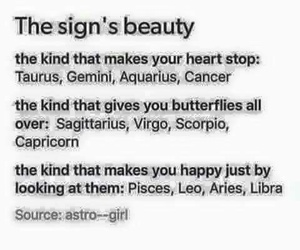 beauty and zodiac signs image