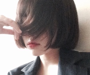 girl, hair, and ulzzang image