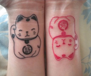 cat, lucky cat, and asian culture image
