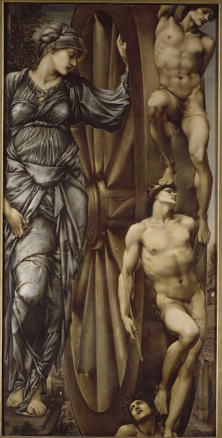 1863, the wheel of fortune, and edward burne-jones image