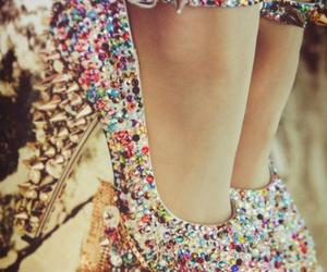 bedazzled, heels, and pumps image