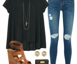 black, fashion, and casual image