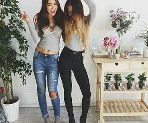 best friends, besties, and clothes image