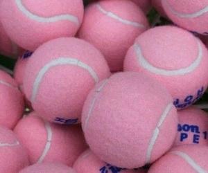 pink, tennis, and ball image