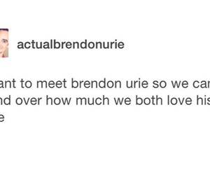 brendon urie, panic! at the disco, and sarah urie image