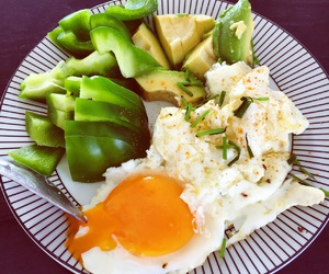 abs, avocado, and breakfast image