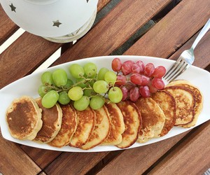 breakfast, pancakes, and FRUiTS image