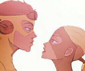 wally west, young justice, and artemis crock image
