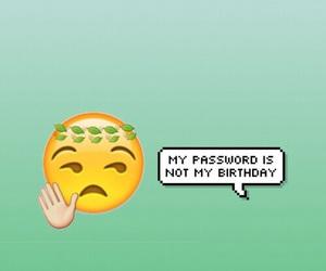 wallpaper, emoji, and password image