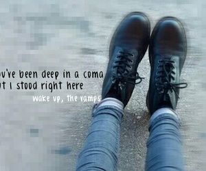 quote, the vamps, and wake up image