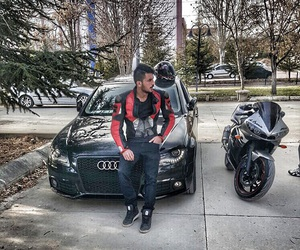 audi, bike, and boy image