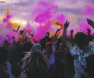 colors, music festival, and crazy image