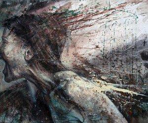 art, painting, and scream image