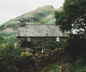 home, mountains, and house image