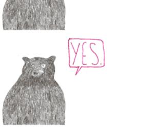 bear and sad image