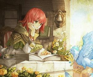 shirayuki, anime girl, and red hair image