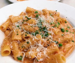 cheese, pasta, and yummy image