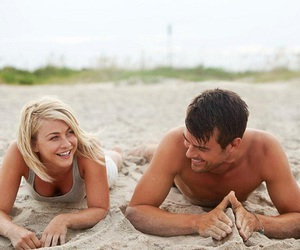 love, beach, and safe haven image