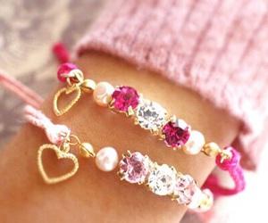 heart, pink, and bracelet image