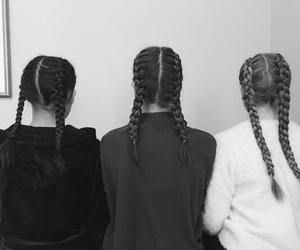 black, braids, and fashion image