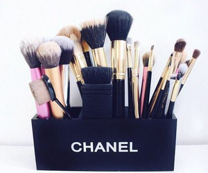 makeup, chanel, and Brushes image
